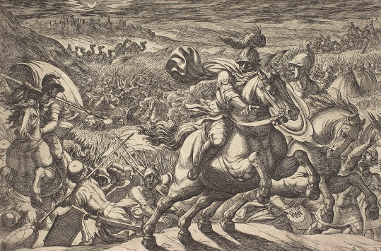 Abram Makes the Enemies Flee Who Hold His Nephew (1613 etching by Antonio Tempesta at the National Gallery of Art)