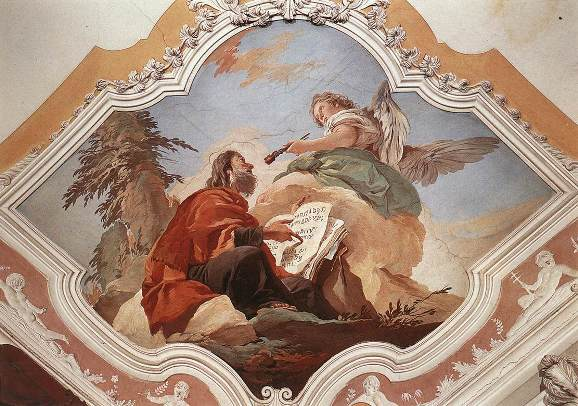 "The Seraph cleanses Isaiah's lips with a coal (Isaiah 6:6). ""The Prophet Isaiah"" by Giovanni Battista Tiepolo, 1696-1700, Palazzo Patriarcale, Udine, Italy."